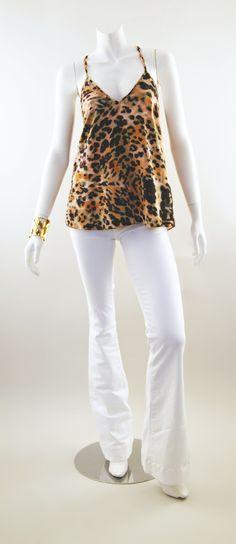 Karina Grimaldi Anne Tank and J Brand Lovestory Jeans