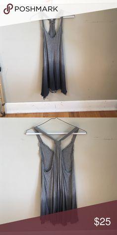 Ecote gray sundress Ecote two tone gray sundress or over up size small Ecote Dresses Mini