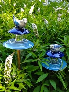 Happy Returns -- recycled garden art -- great local artisan!
