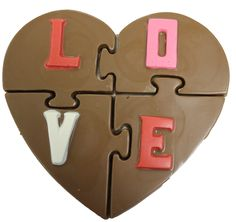 Chocolate Heart I Love You Puzzle