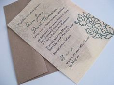 Fabric Invitation - Share your love of the outdoors with your guests by sending these eco-friendly linen fabric invitations.
