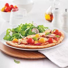 Pizza au poulet et tomates cerises - Recettes - Cuisine et nutrition - Pratico Pratique