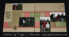 Artwork by Tonya Sheridan from the Pear and Partridge Workshops On The Go Scrapbooking kit.  www.inallsassiness.com