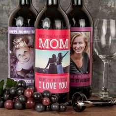 Design your own labels for wine for happy mother's day. Select from our wide range of happy mother's day stickers and labels designs. Unique Mothers Day Gifts, Mothers Day Brunch, Happy Mothers Day, Mother Gifts, Unique Gifts, Personalized Wine Bottles, Custom Wine Labels, Wine Gifts, Creative Gifts