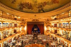 El Ateneo Grand Splendid is one of the most impressive & well known Book Stores in Buenos Aires
