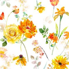 Harrison Ripley - Square Yellow Orange Floral Copy Copy