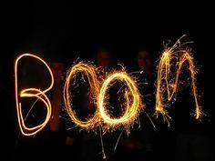 boom - sparkler art