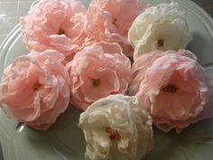 *Queen Bee Cottage*: Singed Chiffon Flower Tutorial ~Updated