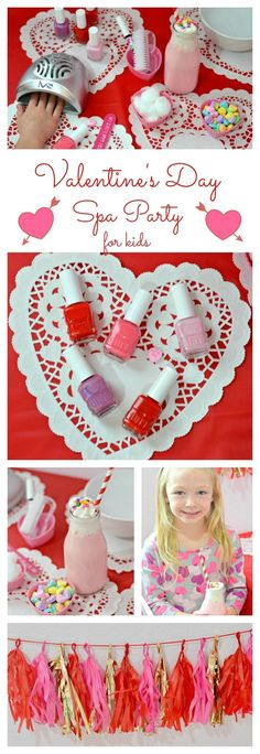 Valentine's Day Spa Party for Kids