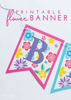 Make your own Spring banner for any occasion with this FREE and pretty floral printable banner! This tutorial shows you how to customize it for any phrase and occasion!