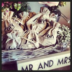 Rustic/Vintage Wedding Favours Made by www.thevowsheffield.com