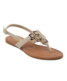 This Nude Geometric Shine Jalila Sandal is perfect! #zulilyfinds