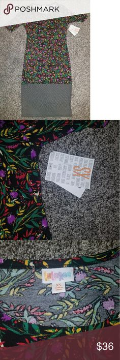 NWT LuLaRoe XS Julia Brand new with tags - adorable pattern block Julia LuLaRoe Dresses