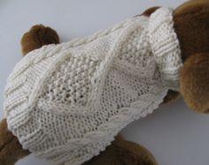 Knit Dog Sweater knitting pattern Zig Zag Rib by KnittyDebby