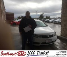https://flic.kr/p/BDqi7s | Congratulations Jish on your #Kia #Forte from Don Weintraub at Southwest KIA Rockwall! | deliverymaxx.com/DealerReviews.aspx?DealerCode=TYEE