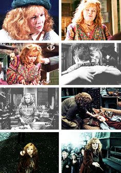 "↳ Molly Weasley; Harry Potter series ""Mrs. Weasley set the potion down on the bedside cabinet, bent down, and put her arms around Harry. He had no memory of ever being hugged like this, as though by a mother. The full weight of everything he had seen that night seemed to fall in upon him as Mrs. Weasley held him to her."""