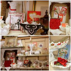 Vintage Valentine's & Milk Glass