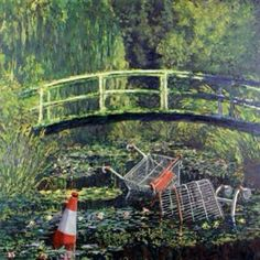 Details about Banksy-Show Me the Monet- Graffiti street art GCSE art Banksy Graffiti, Street Art Banksy, Bansky, Urban Graffiti, Appropriation Art, Pictures Of The Week, Art Pictures, Images D'art, Roman Empire
