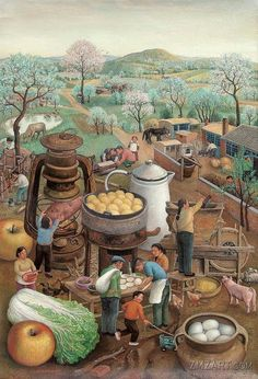 Painting by Chen Shuzhong Chinese Artist Shenyang, Chinese Painting, Chinese Art, Contemporary Artists, Modern Art, Art Magique, Art Chinois, Magic Realism, Naive Art