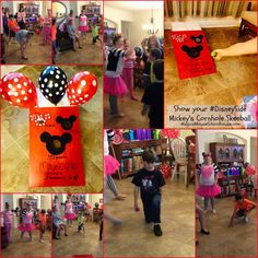 "Mickey/Minnie combination ""cornhole""/skeeball game at our #DisneySide @ Home Celebration #DisneyParks #MomSelect"