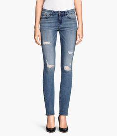 // Super Skinny Blue Denim Acid Wash Jeans :: H&M