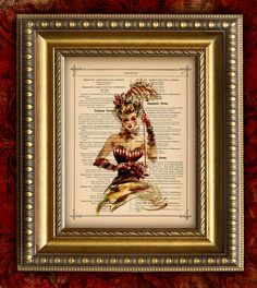 Upcycled Book Page Art Print Vintage GLAMOUR GIRL 2 or Recycled Antique Dictionary Page Art Print 8x10. $10.00, via Etsy.