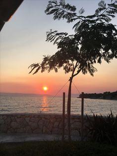 Sunset in Podgora, Croatia.