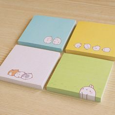 "Molang ""post-its"" - 4 different kinds!"