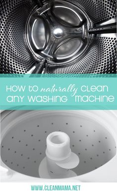 You know you should be cleaning your washing machine but are you stumped on the best method?  Here's How to Naturally Clean Any Washing Machine via Clean Mama Natural Living Tips , DIY projects , #DIY