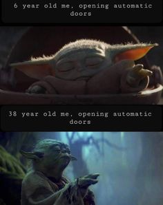 The internet has Baby Yoda fever, and it's making hilarious memes to show it! Check out this roundup of the funniest Baby Yoda memes to hit the internet! Star Wars Meme, Star Wars Witze, Sarkastischer Humor, Baby Humor, Best Memes, Dankest Memes, Yoda Meme, Haha, Movies