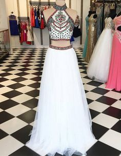 2 pieces prom dresses,new Prom dress,2 piece prom dress,white prom dress,tulle prom dress,Elegant prom dress sold by rhythmic. Shop more products from rhythmic on Storenvy, the home of independent small businesses all over the world.