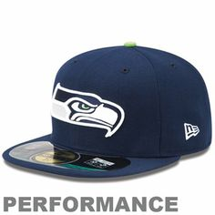 436250c21  Fanatics New Era Seattle Seahawks On-Field Performance 59FIFTY Fitted Hat  - Navy Blue