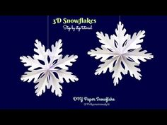 DIY Paper Snowflakes - How to make Snowflakes with paper ❄ DIY Christmas Decor - YouTube