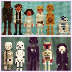 What?!  Star Wars cross stitch....LOL - know a few family members who'd appreciate this :D
