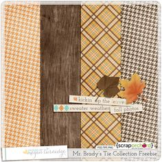 Fall themed mini digital scrapbook kit FREEBIE!