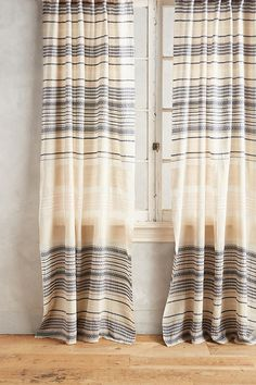 Yarn-Dyed Lucida Curtain | Anthropologie