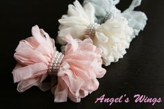 Baby Hair Clips Girls Hair Bows Hair Accessories for Girls Baby No-slip Alligator Clip Cute Photo Prop for Babies Wedding - Angels Wings. $9.99, via Etsy.
