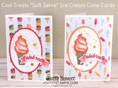 Sweet Treat Ice Cream Note Cards
