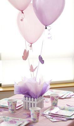 Centro de mesa no tema borboletas para encantar seus convidados!