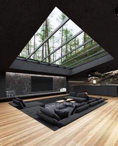 Modern Home Design, Home Room Design, Dream Home Design, Home Interior Design, Interior Architecture, Amazing Architecture, Modern Interior, Contemporary Architecture, Unique House Design