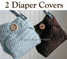 2 Crochet Diaper Covers -Newborn Photo Prop,Twins Boy, Photo Prop, Plain Blue - Sizes NEWBORN TO 12 MONTHS  (additional colors available). $32.00, via Etsy.