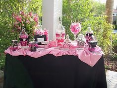 Black & Pink Candy Bar- what it will hopefully look like!