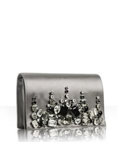 Prada Satin Jeweled Clutch
