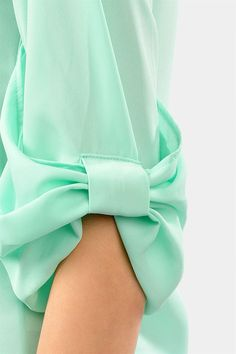 Mint Bow Sleeve