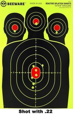 30//50//100 Pack Reactive Splatter Gun Rifle Pistol Shooting Targets Glow Shot USA