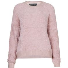 TOPSHOP PETITE Fluffy Sweat (£20) found on Polyvore featuring women's fashion, tops, hoodies, sweatshirts, petite, pink, polyester sweatshirt, topshop tops, pink sweatshirts and topshop sweatshirt