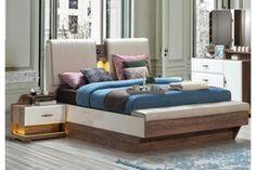 EMIRGAN Beige Living Rooms, Ottoman Table, Dressing Table Mirror, Sliding Wardrobe, Bed Base, Under Bed, Bed Mattress, Double Beds, Bedroom Sets