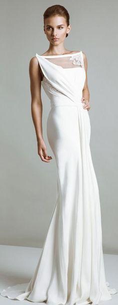 white maxi dress @roressclothes closet ideas women fashion outfit clothing style Tony Ward 2014: