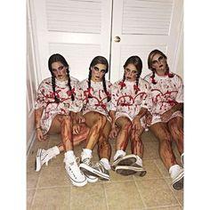 disfraz en grupo niñas abandonadas