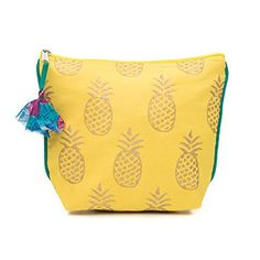 New Trending Make Up Bags: Fair Trade Upcycled Fabric Metallic Block Print Cosemetic/Toiletry Bags (Pineapple Yellow). Fair Trade Upcycled Fabric Metallic Block Print Cosemetic/Toiletry Bags (Pineapple Yellow)  Special Offer: $18.00  399 Reviews These lively prints as seen in our Metallic Tote collection now on a roomy, compact cosmetic bags. This shape is similar to our Duchess and Color Splash...